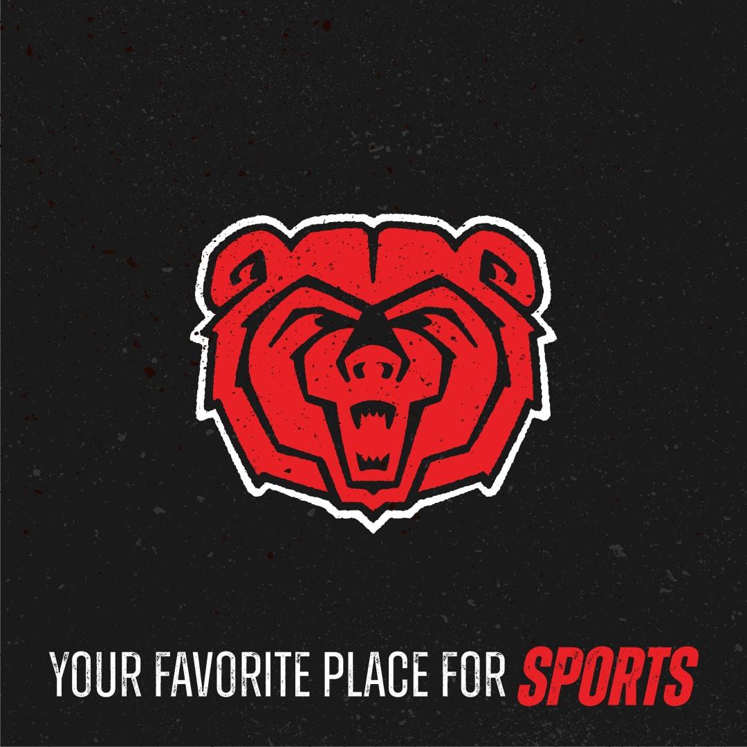 MSU bears logo for sports bar